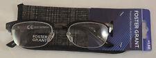 Foster Grant Warwick Reading Glasses +1.50 Black Frames