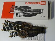 Fleischmann HO Art 6058 elektrische 3-Weg Weiche Standartgleis    neu//OVP