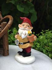 Miniature Dollhouse FAIRY GARDEN Accessories ~ Small Gardener Gnome w Trowel NEW