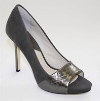 Women's Shoes Michael Kors LEIGHTON PEEP Stiletto Open Toe Pumps Suede Graphite