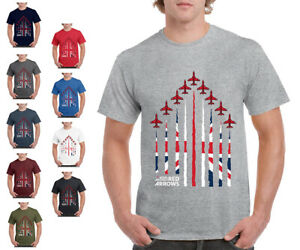 Red Arrows T Shirt 'Union Jack Formation' - Official RAF Merchandise