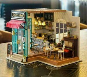 Rolife 3D Miniature DIY dolls house puzzle, Simon's Coffee DG109