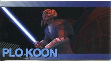 Star Wars Clone Wars Widevision Foil Character Chase Card #4