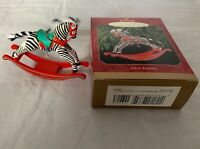 Hallmark 1999 Zebra Fantasy Rocking Horse Series #1 Keepsake Christmas Ornament