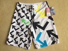BNWT Quiksilver Mens 'Blizzard' White/Multi Board Shorts - Size 28 - RRP £45