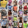 Women Crop Top Mesh See-through T-Shirt Short Sleeve Blouse Tank Tops Shirt
