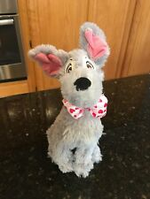 DISNEY PARKS LADY AND THE TRAMP VALENTINES HEART BOWTIE PLUSH KISSING DOG
