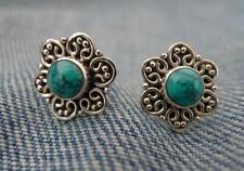 Sterling Silver Turquiose Stud Earrings