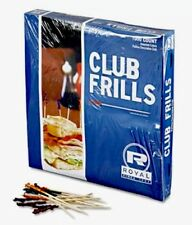 Club Frills Sandwich Toothpicks Cocktail Appetizer Snack Food Party Picks 1000