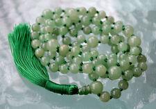 Green Aventurine Knotted Mala Beads Necklace - Love Magic, Communication Skill