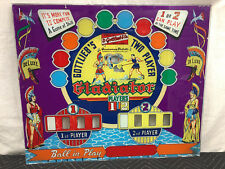 Gottlieb Gladiator EM Pinball Machine Game Backglass Electro Mechanical