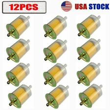 12 Fuel Filters Industrial High Performance Universal Inline Gas Fuel Line 5/16