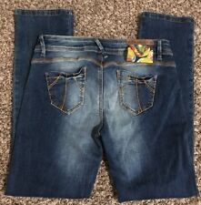 Desigual Denim Jeans The Fun Slim Fit Straight Leg Womens Size 30 EUC (d17)