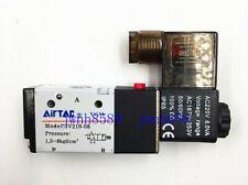 "3V210-08 3 Way 2 Position 1/4"" Port Airtac Pneumatic Air Solenoid Valve AC220V"