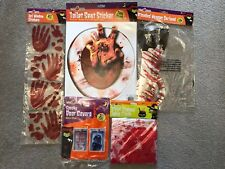 Scary Halloween Bloody House Decoration Bundle Monster Spiders Blades