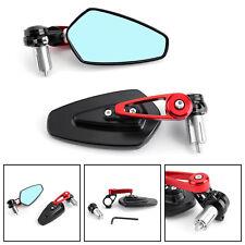 """7/8"""" 22mm Coppia Specchietti Retrovisori Specchi Moto Regolabile Scooter Rosso"""