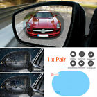 1 PAIR Car Wing Mirror Film Rear View Sticker Window Tint Rainproof Anti-Glare
