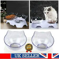 Pets Feeding Dog Cat Water Bowl Removable Food Bowls With Holder Elevated UK