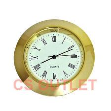 Clock Insert 43mm Bezel fit 35mm Hole Gold, Roman Numerals, Quartz Watch