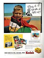 ▬► PUBLICITE ADVERTISING AD  Appareil Photo KODAK 1958