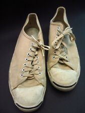 Vtg 1970s Converse Jack Purcell Sneakers Mens 8.5 White Ox Original Classic Rare