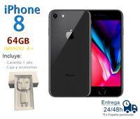 APPLEIPHONE 8 DE 64GB NEGRO REACONDICIONADO LIBRE GRADO A+  CAJA Y ACCESORIOS