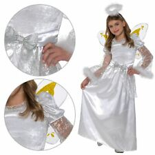 Girl's Christmas White Angel Gabriel Nativity Fancy Dress Costume Outfit Play