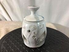 Collectible Vtg Handmade Stoneware Pottery Candle Holder Signe David Kendal