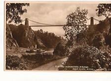 Postcard UK Bristol Clifton Suspension Bridge Paddle Wheel Steamer  UK2