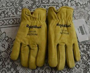 Refrigiwear 0313 Pigskin Leather Gloves - MEDIUM Size
