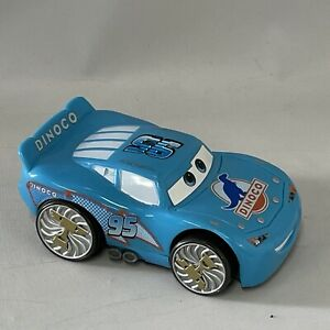 Disney Pixar Cars Shake and Go Talking Dinoco Car Blue Lightning McQueen Sounds