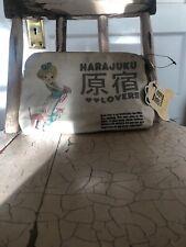 Harajuku Lovers Cosmetics Travel Bag Canvas So Pretty Drawings 100% Cotton Bell