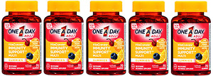 One A Day Vitacraves Immunity Gummies, 70 Count (5 Pack)