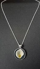 """Lily Flower Pendant On 18"""" Silver Plated Fine Metal Chain Necklace Gift N886"""