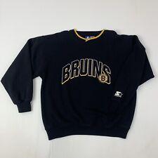 Starter Boston Bruins Mens Large Black Long Sleeve Sweatshirt