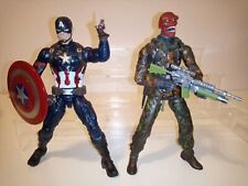 "Marvel Legends 6"" Captain America & custom  battle Red skull Action Figure lot"