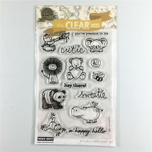 Hero Arts From The Vault Cute Animals Clear Stamp Set Polar Bear Mouse Hippo