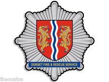 "4"" Dorset Fire And Rescue Service Uk Helmet Bumper Decal Sticker Usa Made"