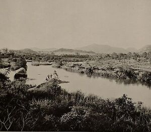 1899 PRINT COLONIAL SOUTH AFRICA CROCODILE RIVER TRANSVAAL