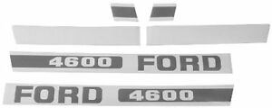 FORD TRACTOR 4600 HOOD DECAL KIT, EBPN16605D