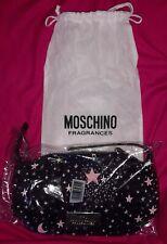 Genuine Moschino fragrances star moon black gold clutch makeup wash handbag gift