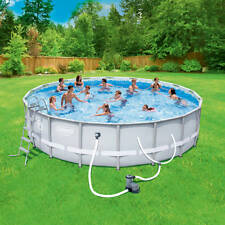 "Coleman 18' x 48"" Power Steel Frame Above-Ground Swimming Pool Set"