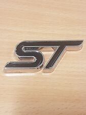 ST Trunk Black Metal Tail Badge Rear Logo Sticker Kit For Ford Fiesta/Focus S ST