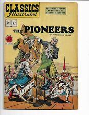 "CLASSICS ILLUSTRATED 37 - VG/F 5.0 - ""THE PIONEERS"" - ORIGINAL EDITION (1947)"