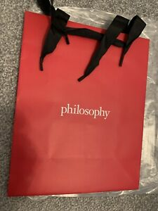 """PHILOSOPHY  LARGE RED GIFT BAG—10"""" X 8"""" X 4""""~~NEW"""