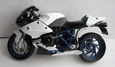 """Maisto 1:18 BMW HP2 Sport Motorcyle - Diecast, White - Loose 4 1/2"""" - SHIPS FAST"""