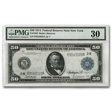 1914 (B-New York) $50 FRN VF-30 PMG
