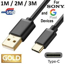 USB C CABLE for GOOGLE PIXEL for SONY XPERIA PHONE 3FT 6FT 10FT FAST CHARGE CORD