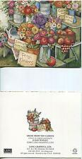 VINTAGE BANANAS FOSTER DESERT FLAME RECIPE PRINT 1 TOMATOES CABBAGE GARDEN CARD