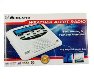 Midland Emergency Weather Alert Radio Alarm Clock Battery Back Up WR120B NOAA